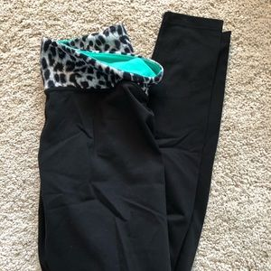 Reversible PINK yoga leggings